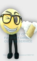 beer making kit - Happy Face Beer Cheers Mascot Costume Adult Cartoon Mascotte Carnival Celebration Happy Face Mascotte Fancy Dress KITS