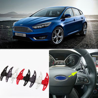 Wholesale 2pcs Alloy Add On Steering Wheel DSG Paddle Shifters Extension For Ford Focus