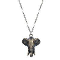 animal details - 1pcs New Design Necklace Chain Detailed Elephant Head Shaped Animal Pendant Necklace For Women Necklaces Pendants For Men Women
