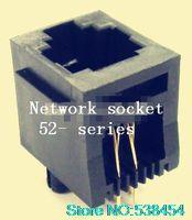 Wholesale RJ11 phone jack P4C band edge line vertical