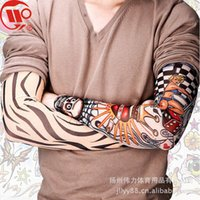 Wholesale 200 Style Nylon Stretchy Arm Warmers Sunscreen Fake Tattoo Sleeve Arms Fancy Dress Costume L305