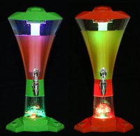 beer towers - 3l Draft Beer Tower Dispenser Plastic with LED Lights New