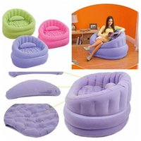 Wholesale Intex Inflatable Chair Sofa Living Room Gaming Camping Sofa Relaxing Chair Camping Outdoor Air Chair color LJJK441