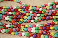 Wholesale Free Shiping New Fashion Mixed Skull Beads Turquoise Gemstone Loose Beads Fit For Bracelet Necklace jy773