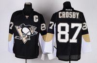 Cheap Pittsburgh Sidney Crosby #87 Black Home Penguins Stitched Nhl Ice Hockey Jerseys High Quality Cheap Hot Sell Winter Sportswear