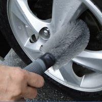Wholesale New PC Auto Car Motorcycle Tire Rim Portable Hub Brush Cleaning Tool Kit ABS Handle Nylon Brush