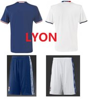 Wholesale DHL new season Ligue club Lyon home away football jerseys soccer Uniforms Customized fans jerseys mixed order
