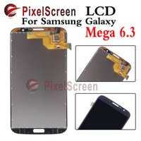Cheap For Samsung Galaxy Mega i9200 6.3 inch Gray Full New LCD Display Panel Touch Screen Digitizer Glass Lens Assembly Replacement Free Shipping
