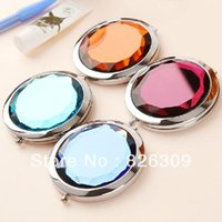 Wholesale 50X Cosmetic Compact Mirror Crystal Magnifying Make Up Mirror DROP SHIPPING