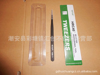 Wholesale Special thick Vetus ST Black Anti Static Tweezers mm HRC40 ESD by Virtuabotix for cellphone Repair Tool
