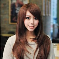 Wholesale Soft Degre Hair Sexy Fashion Long srtaight Lady s Synthetic Hair Wig Full Lace Cosplay Wig Free Gift Wig