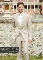 best allure - Custom Allure Two Buttons Groom Tuxedo Best Man Groomsman Suit Men Destination Wedding Suits Formal Suit Jacket Pants Vest BowTie JBC037
