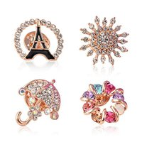 american umbrella - Christmas Gifts Brooches Rhinestone Crystal Brooches Jeweled Brooches Multicolor Umbrella Brooch New Style Brooches for Women