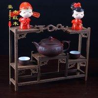 antique curio cabinet - Chicken wing wood dragon retro chain shelf high end desktop decoration crafts mahogany Solid Wood Curio Cabinet