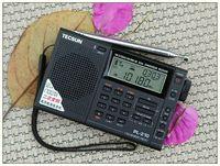 Wholesale TECSUN PL PLL Digital World Band Radio Receiver PL210 FM Stereo SW MW LW Dual Conversion Radio With Speaker