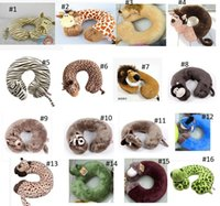 Wholesale NICI animal cartoon u shaped neck pillow Soft Car Travel Office Home Nursing Cushion styles