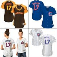 baseball shirt women - Chicago Cubs Womens Kris Bryant jerseys Cubs Baseball Jersey Shirt Lasies Embroidery Logos Stitched Size S XL