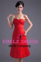army of brides - Bra Slim red dress bridesmaid dress short paragraph bride wedding dress dinner dress annual meeting of chairpersons of the new