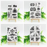 Wholesale Vintage Flourish Transparent Clear Silicone Stamps for DIY Scrapbooking Card Making Kids Fun Decoration Supplies