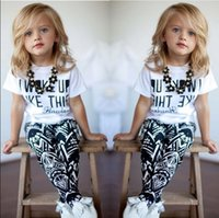 american wake - Baby Girls Stripe I Woke Up Like This Toddler shirt and Pants Outfits Set to Y Girls Clothing Sets Kids Good Quality Suits