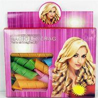 bendy curlers - Hot Amazing MAGIC LEVERAG DIY Magic Hair Curler Roller Magic Circle Hair Styling Rollers Curlers Leverag perm set In stock DHL Free
