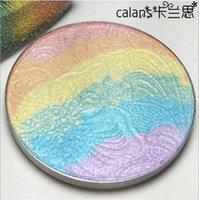 El inventario grande, la belleza amarga del cordón del resaltador del arco iris 2016 de la prisma se ruboriza maquillaje seis colores para el envío libre del verano