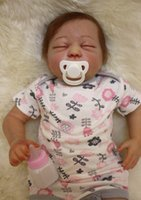 """Cheap Silicone reborn dolls 100% handmade high quality real reborn babies 20"""" soft touch fashion dolls for kids lover bebe gift reborn"""