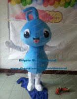 ants water - Clever Blue Water Drop Drip Droplet Ant Pismire Mascot Costume Cartoon Character Mascotte Adult White Hands NO Free Ship