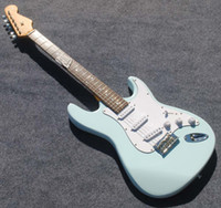 alder guitar wood - guitar light blue color basswood wood body starto electric guitar accept custom hot selling