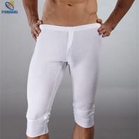 Wholesale Brand men s underwear made of pure cotton men pants pyjamas at home man winter pants Warm pants