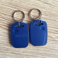Wholesale khz rfid em4100 blue keychain