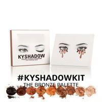 Wholesale 2016 NEW Kylie Cosmetics Bronze Eyeshadow KyShadow Palette waterproof colors KYLIE eye shadow enough stock