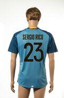 # 23 Sergio Rico Jersey de Futbol España Eurocopa 2016 de fútbol azul Jersey, jerseys baratos del fútbol para los hombres la calidad de Tailandia de fútbol Wears Venta