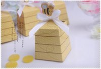 bee gift box - New Halloween paper bee candy box for Wedding Christmas fashion Trapezoid gift box C1289