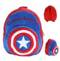 america gift shop - Captain America Design Plush Backpack Cool Kids Birthday Gift Plush Backpack Shopping Travel Backpacks for Kids