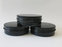 aluminum powder uses - 50 x g Black Aluminum Jar cc metal jar for cream powder gel use ml aluminum container