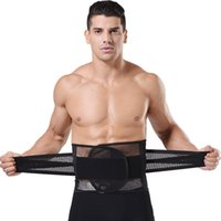 Wholesale Hot shapers Summer Breathable Mesh Men Waist Cinchers Slimming Belt Tummy Belly Control Weight Loss waist training corsets Body Shaper