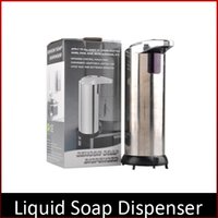 Wholesale Automatic Sensor Soap Dispenser Base Wall Mounted Stainless Steel Touch free Sanitizer Dispenser For Kitchen Bathroom Wash Machine DHL free