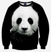 Wholesale 2016 new sale Winter Women Men Space print Galaxy hoodies Sweaters Pullovers panda tiger cat animal D Sweatshirt Tops T Shirt