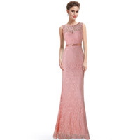 Wholesale Cheap Under Evening Dresses Blush Pink Sheer Neckline Short Sleeves Backless Applique Chiffon Plus Size Party Prom Formal Gowns