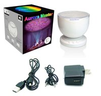 aurora night light - Aurora Master LED Projector with MP3 Music Speaker USB Ocean Wave Lamp With Speaker Romantic Gift Night Light Music Light
