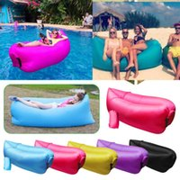 Wholesale New D Terylene Material cm Lengthened Fast Inflatable Camping Sofa Lazy Lounge Sleeping Bags Air Sofa Beach Bed