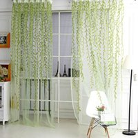 Wholesale Hot Sallow curtains for Living Room Kitchen Voile Window Curtains Sheer Panel Drapes Yarn Curtains