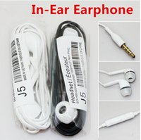 Wholesale 3 mm In Ear Stereo Earphone white black Headphones Headset with Mic for Samsung Galaxy S6 S4 Note DHL China