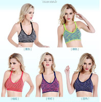 Wholesale Hot selling Multicolors Women Padded Top Athletic Vest Gym Yoga Fitness Sports Bra Stretch Cotton Seamless