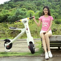Wholesale Foldable Electric Scooter Electric Bike Two Wheels Folding Adult Mountain Bike With Bluetooth Speaker and LED Lights