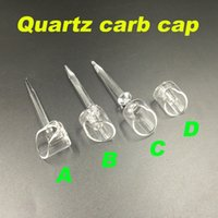 Wholesale New banger carb cap quartz carb cap fit mm or mm thick quartz banger nail domeless banger cap for oil bongs water pipes