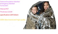 Wholesale cm outdoor Camping Waterproof Foil Thermal emergecy blanket which can sunscreen and insulation blanket