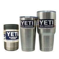 big insulated mugs - Yeti Cups Cooler Stainless Steel YETI Rambler Tumbler Cup Car Vehicle Beer Mugs Vacuum Insulated Refly oz oz oz DHL Free