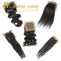 Cheap Unprocessed Body Wave Silk closure Best Silk closure human hair